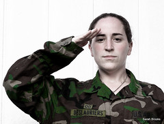 Salute to Anna Gay Outtake (LittleRedCera) Tags: green thankyou salute camo camouflage strong brave 2009 august12 armystrong annagay littleredcera sendofftobasic myhusbandhelpedmewiththisshot