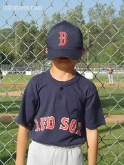 American Little League Baseball Kid