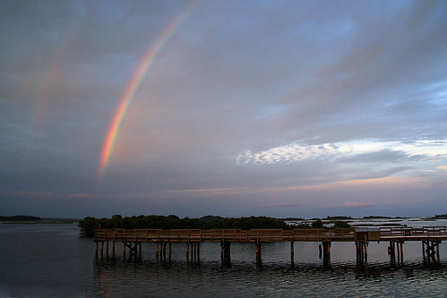 Cedar Key Rainbow at Dusk