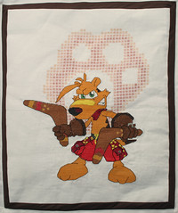 TY the Tasmanain Tiger X-stitch Quilt panel