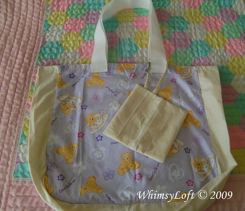 Purple Teddy Eco Bag 2
