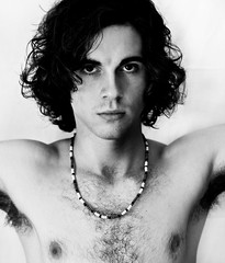 Ode to Jim Morrison (Sara_Morrison) Tags: blackandwhite music guy rock hair necklace doors jim musica biancoenero rockandroll jimmorrison capelli ragazzo thedoors collana blackwhitephotos