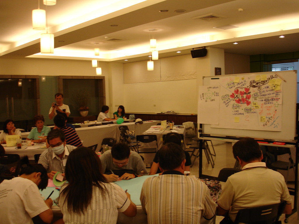 審議民主在台灣已經有許多舉辦經驗;攝影:呂家華(台灣青年公民論壇協會理事長)