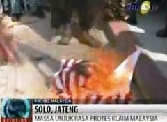 bakar bendera malaysia