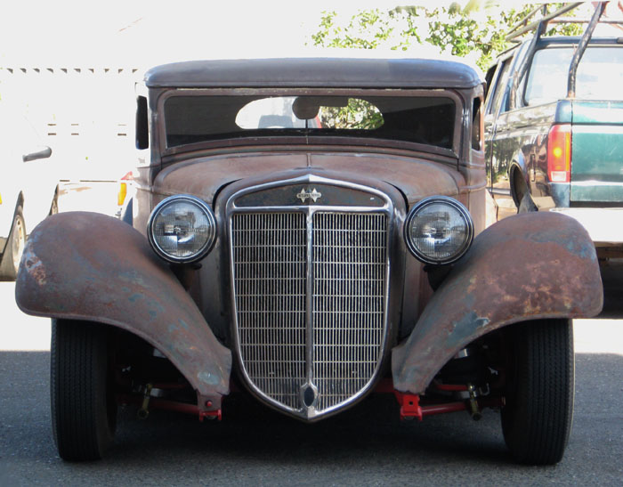 rat rod parked