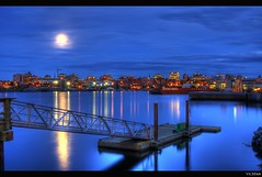 The Docks and The City: Victoria B.C's Skyline (Brandon Godfrey) Tags: world pictures city summer urban skyline reflections landscape photography sussex photo amazing fantastic twilight dock scenery cityscape shot photos shots pics earth britishcolumbia sony picture scene images victoria fullmoon creativecommons pacificnorthwest northamerica alpha dslr 2009 hdr highdynamicrange vicwest outstanding viewtowers thebluehour a300 standrewssquare standrewscathedral photomatix theempresshotel tonemapped tonemapping cibcbuilding capitaliron executivehousehotel jackdavisbuilding victoriacityhall dslra300 thejuliet centragasbuilding staplesbuilding thejohnsonstreetbridge scotiamcleodbuilding northparkmanor
