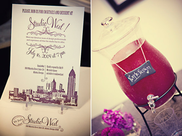 Lovely Lettepress Invitations for StudioWed