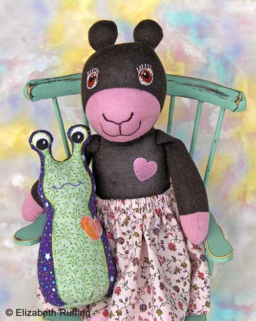 Annie the Antelope Sock Doll by Elizabeth Ruffing