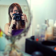 Mirror Mirror (Jelena Ardila) Tags: portrait mirrow selfie beautyparlor beautyproducts canon50d