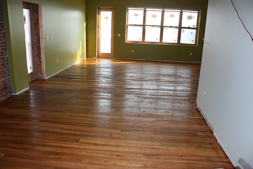 Refinishing floors - finishing