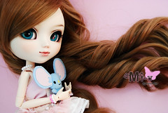 Mi-u - Pullip Custom (-Poison Girl-) Tags: new pink blue white rabbit glasses doll dolls turquoise makeup pale wig pullip custom pullips poisongirl miu faceup obitsu eyechips junplanning rewigged pullipcustom sbhm ayaume
