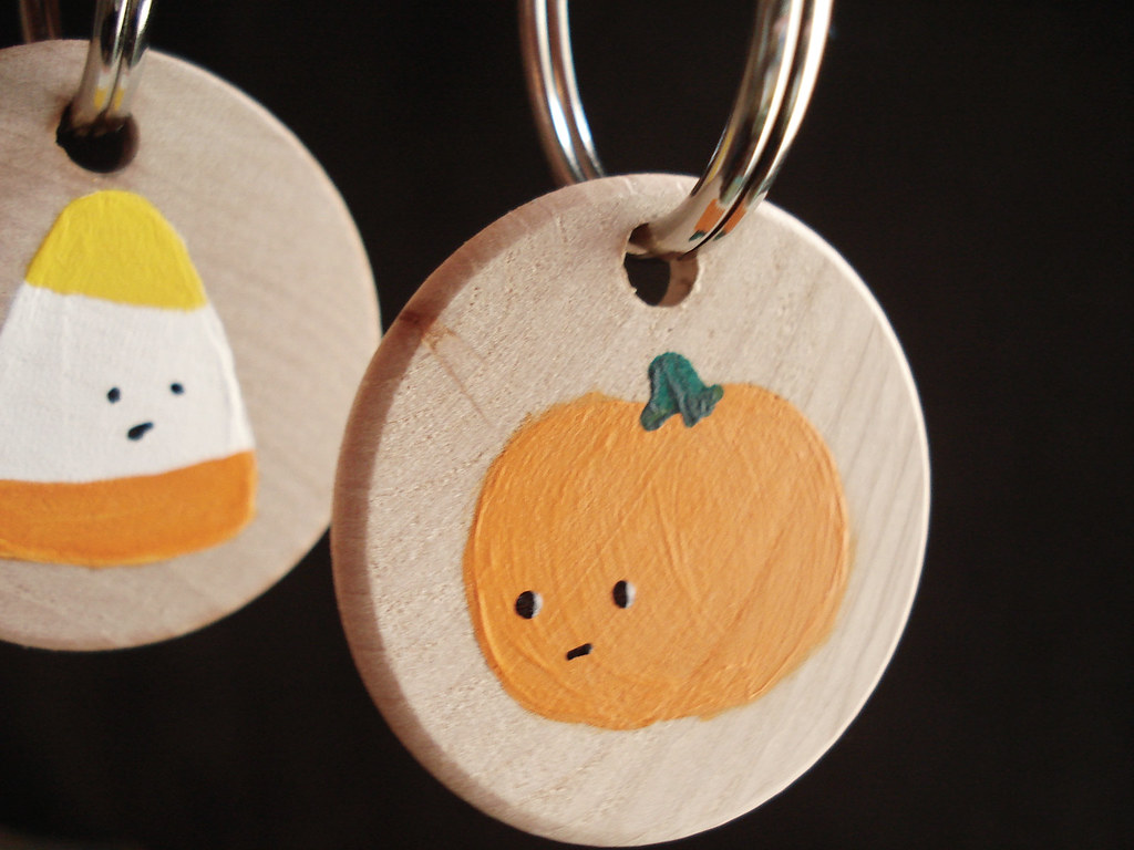 painted keychains