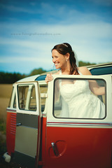 (Lisa Rsten  |  Fotografix Studios) Tags: red color bus vw bride weddings vwbus fotografixstudios