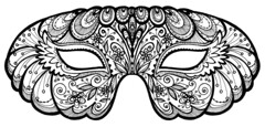 You-Color-It Mask (stephaniecorfee) Tags: mask halloweenmask eyemask mardigrasmask coloryourownmask diymask craftyprojectmask blackandwhitemask