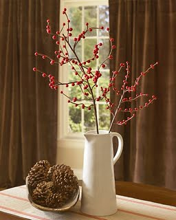 red berry branch and pinecones pb