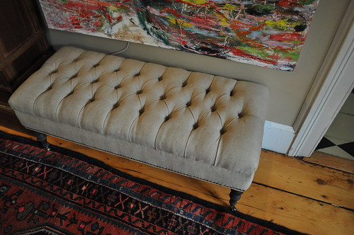Tufted Bench In Linen