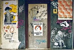 alias (kooklanekookla) Tags: street door portrait urban colour art amsterdam wall poster graffiti walk vivid figure form draw srite kooklanekookla