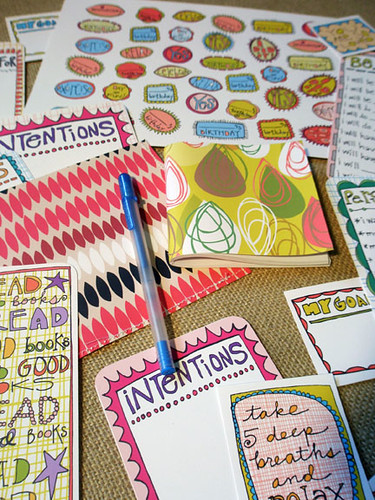 new year 'goals and intentions' kit by jess gonacha.