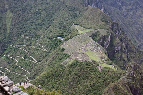 Overlook of Machu Picchu from Wayna Picchu