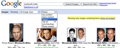 New Image Search Options on Google