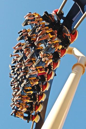 Livi's first rollercoaster!