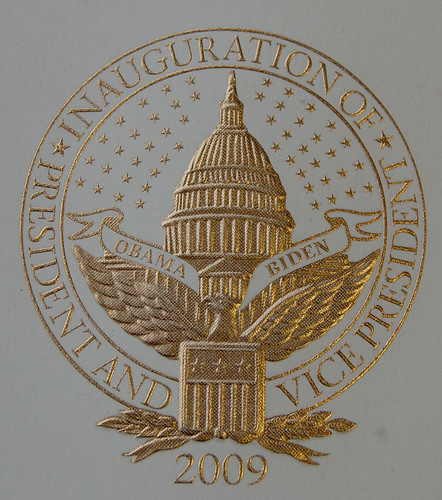 Obama Inaugural Invitation:  Inaugural Seal Up Close by redstamp.com.