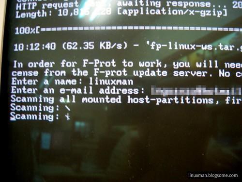 TRK Buscando virus.