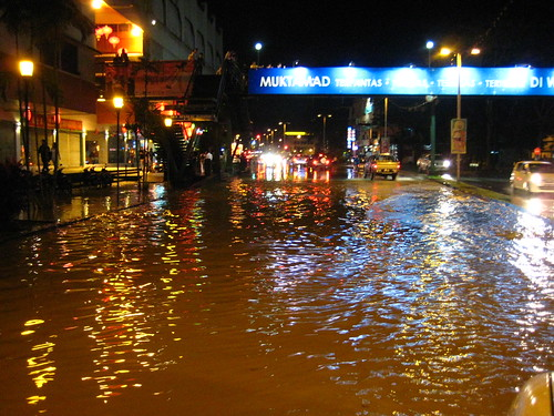 Premier Hotel road flooded