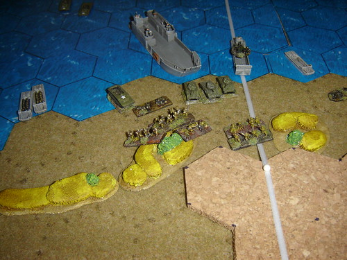 Armour comes ashore to sharp resistance