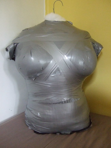 large: duct tape dress form