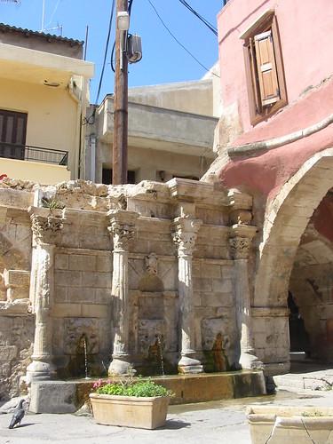 Venetiaanse fontein met ijskoud water