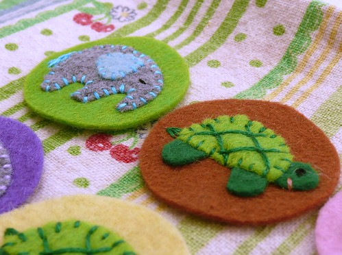 Felt turtle and Elephant