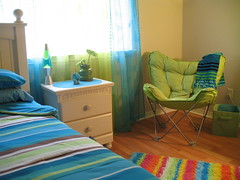 Cool blues and lime greens..... (Subasri Pillai) Tags: home colors interiors limegreen coolblue kidsrooms satellitechair