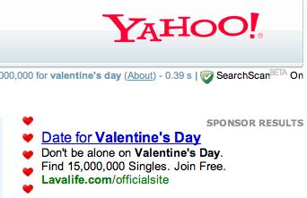 Valentines Day Border at Yahoo