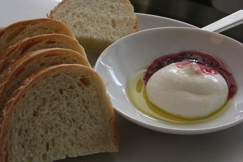 ricotta, jam, olive oil