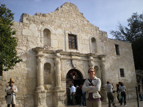Clare in front of The Alamo