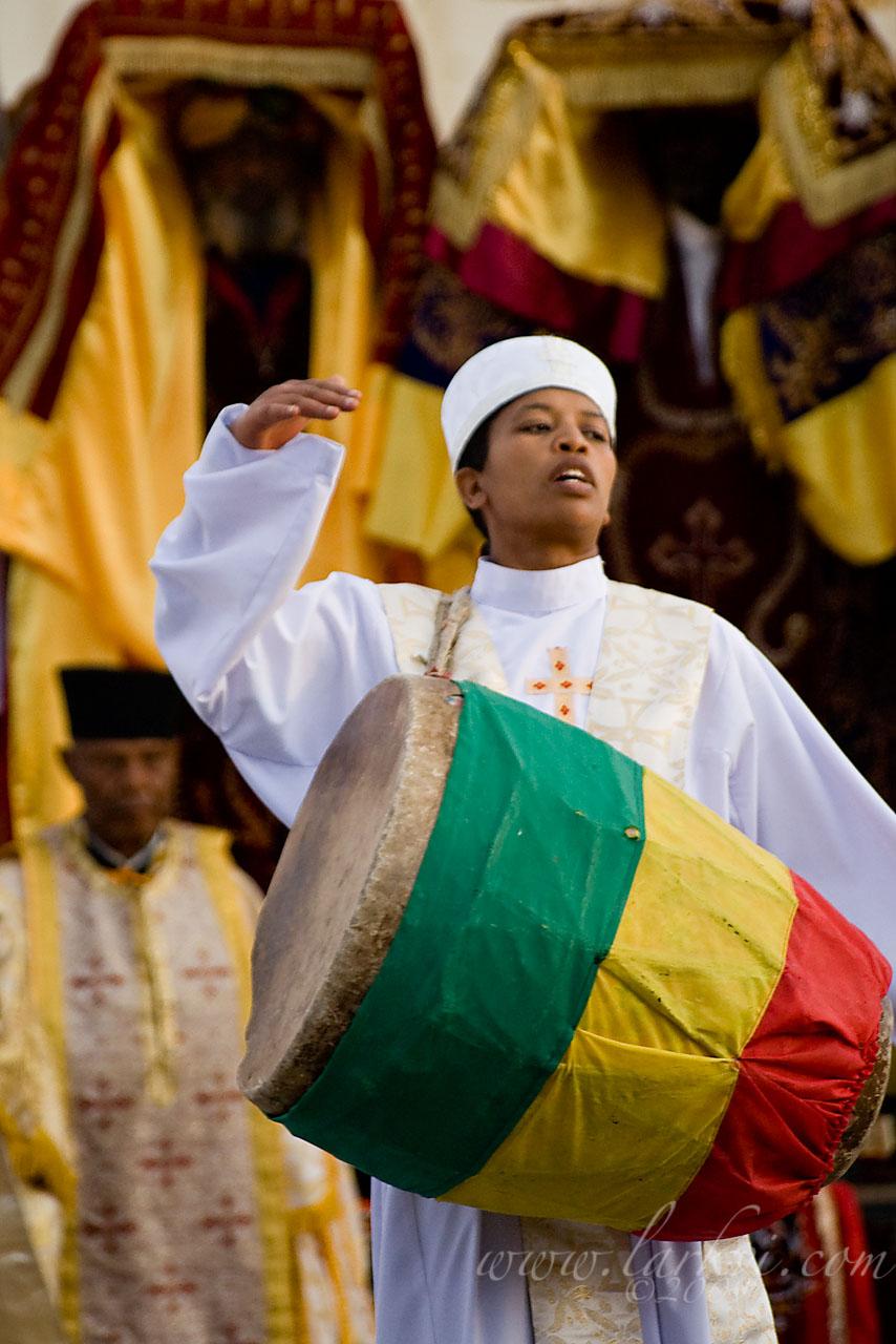 Drummer #2, Timkat (Epiphany), Addis Ababa, Ethiopia, January 2009
