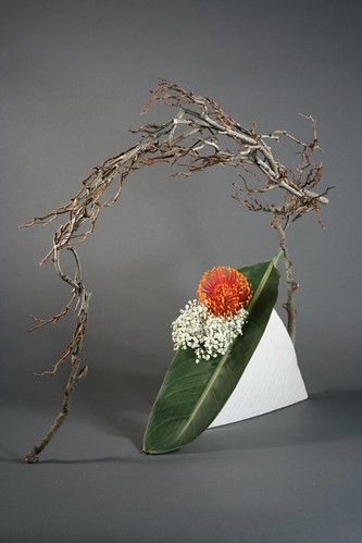 Ikebana incorporating space