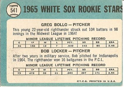 White Sox Rookie Pitchers (back) by you.