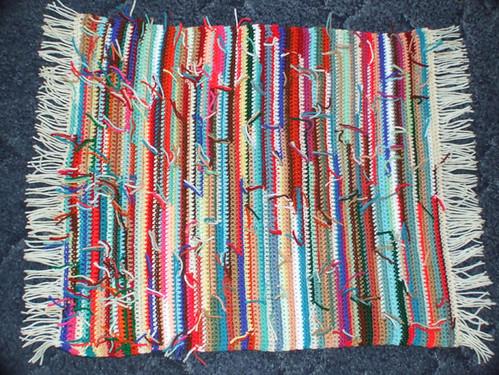 Reversible rag rug I crocheted 2-22-09 resized