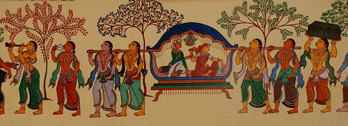 Marriage Scene depicted in Pata Chitra