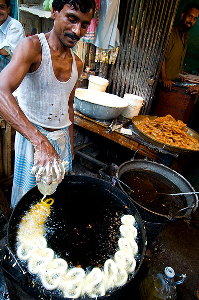 Making sweets in Khulna, Bangladesh