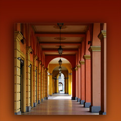 hot rhythm! (rita vita finzi) Tags: light orange lines architecture canon bravo colours framed columns perspective porch modena rhythm luxurious modules justimagine fineartphotos mywinners oraclex sensationalphoto thedantecircle themonalisasmile abitoforient doublebravo