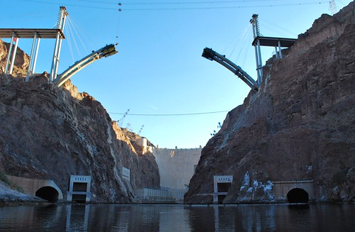 Hoover Dam and new Black Canyon bridge