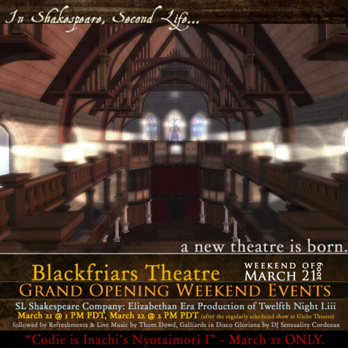 SLSC Blackfriars Theatre Grand Opening March 21