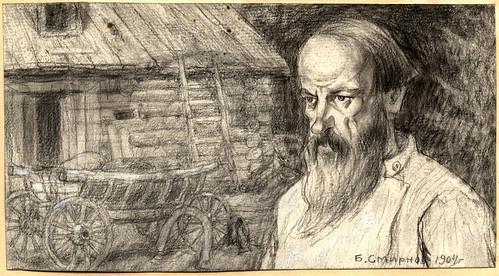 023- Siberia. Campesino-colono que se ha instalado en la provincia de Irkutsk- Boris Smirnov 1904
