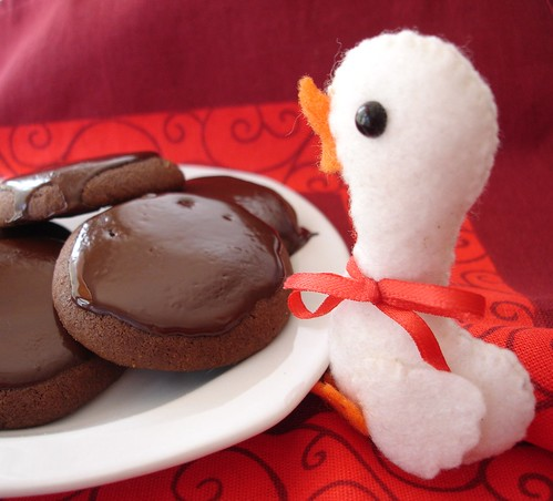 Chocolate coated cookies