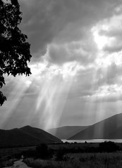 SUNRAY... (*squall*) Tags: lake blackwhite greece macedonia prespes