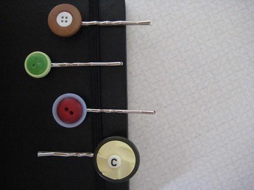 Button Hairclip Collection