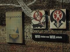 (Stefania Valera) Tags: street city summer streetart berlin station germany deutschland graffiti strasse bahnhof fujifilm trinken mitte pinkeln